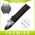 Venda de Reloj de 18mm de Liberación Rápida de Withings Activite/Acero/pop butterfly correa de primera capa de cuero genuino de pulsera broche pulsera