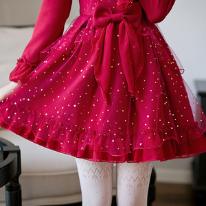 Image 4 - Princess sweet lolita dress Candy rain fall original Japanese girl wind sweet butterfly sleeve jacobs princess dress C22CD7200
