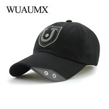 Wuaumx Vintage Cotton Baseball Cap Men Summer Hats For Women Iron Ring Fitted Snapback Trucker Adult Casquette