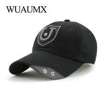 Wuaumx Vintage Cotton Baseball Cap Men Summer Hats For Women Iron Ring Hats Fitted Cotton Snapback Trucker Cap Adult Casquette(China)