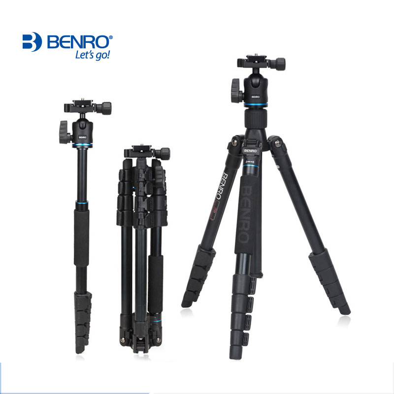 Image 2 - DHL Free Shipping BENRO IT25 Portable Camera Tripod Reflexed Removerble Traveling Monopod Carrying Bag Max Loading 6kg-in Tripods from Consumer Electronics