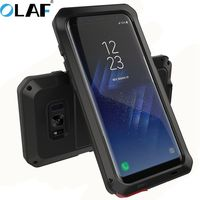 Full Body Protective For Samsung Case Front Glass Metal Aluminum Armor Heavy Duty Case For S8