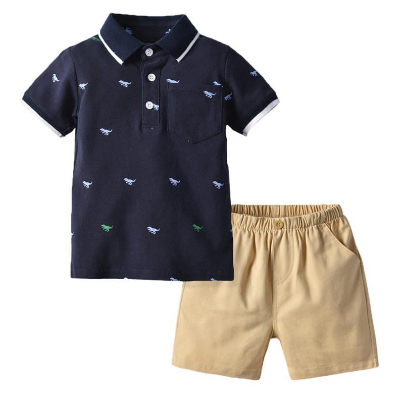 Summer Baby Boys Clothes Short Sleeve Embroidery Dinosaur Tops T Shirt Shorts Children Casual Outfits Sets in Clothing Sets from Mother Kids