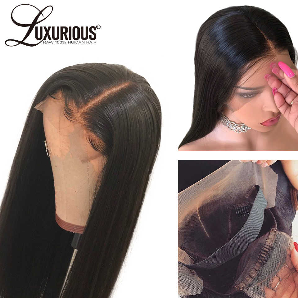 Lace Front Human Hair Wigs With Elastic Band 8 26inch Peruvian