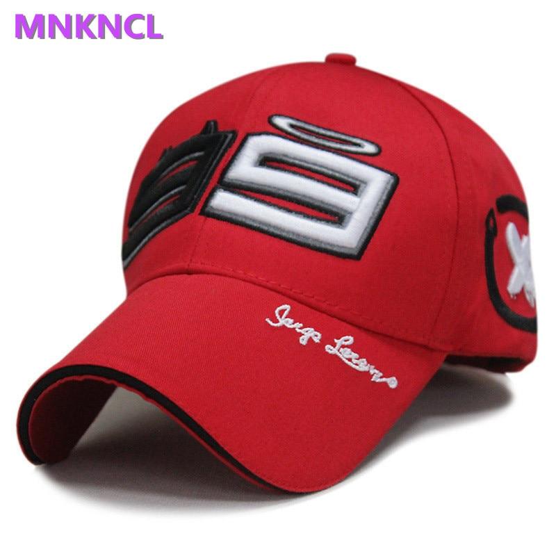 2017 New F1 Car 99 Jorge Lorenzo Hats for Men Racing Cap Cotton Motorcycle Racing Baseball Caps Car Sun Snapback Hats