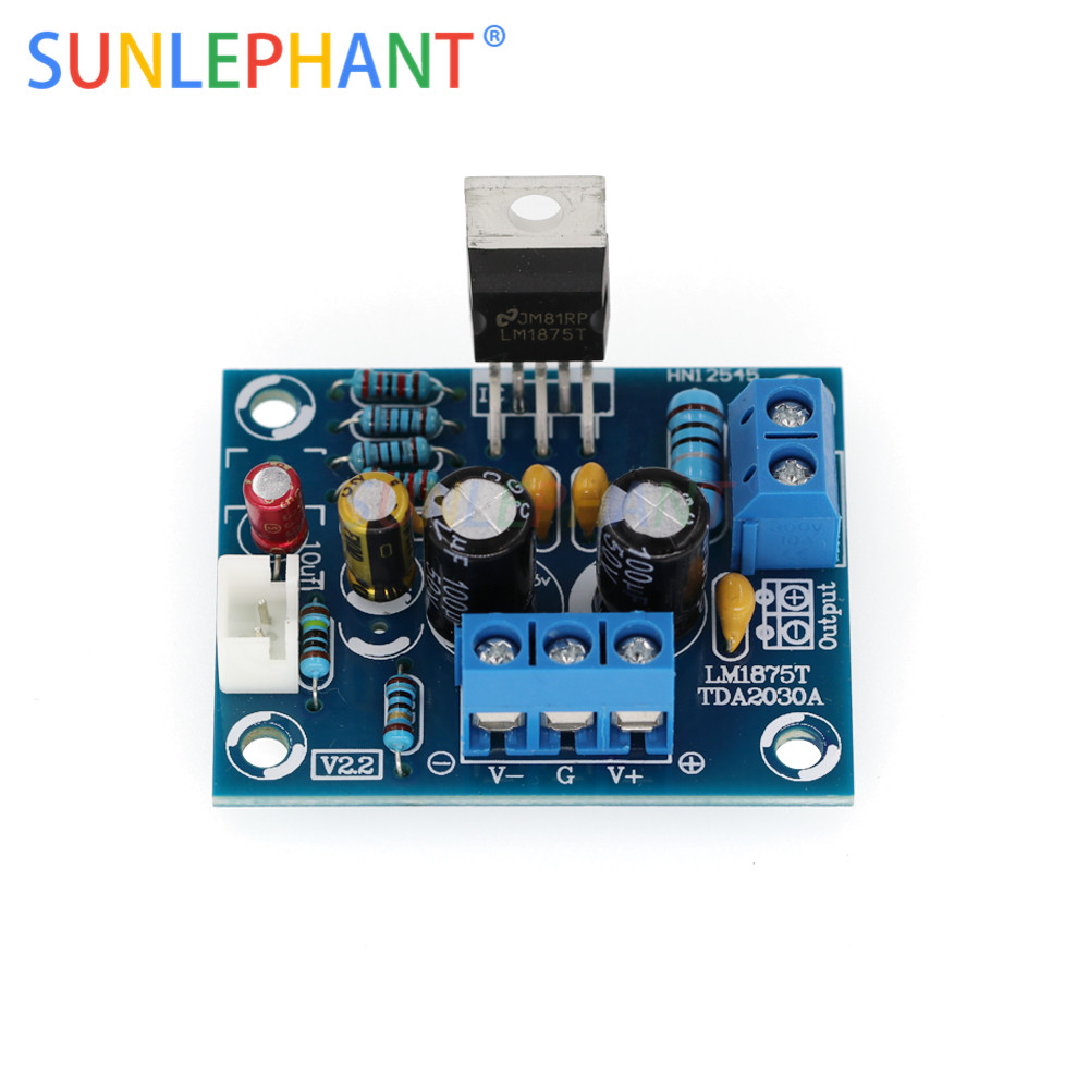 20W HIFI <font><b>LM1875T</b></font> Mono Channel <font><b>Amplifier</b></font> Board <font><b>Stereo</b></font> <font><b>Audio</b></font> <font><b>Amplifier</b></font> Module <font><b>Kit</b></font> for <font><b>DIY</b></font> Integrated Circuits image