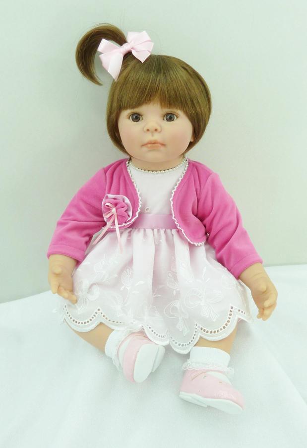 50 cm silicone reborn bébé poupées jouet réaliste 20 pouces princesse bambin bébés poupées populaire cadeau de noël jouer maison coucher jouet