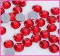 Ss6, ss10, ss16, ss20, ss30 Lt. Siam Color de Calidad Superior DMC Hierro En Caliente del arreglo Pedrería de Cristal de cristal con Un Fuerte Pegamento Gris