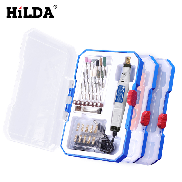 HILDA Mini Drill Rotary tool 18V Engraving Pen With Grinding Accessories Set Multifunction Mini Engraving Pen For Dremel tools