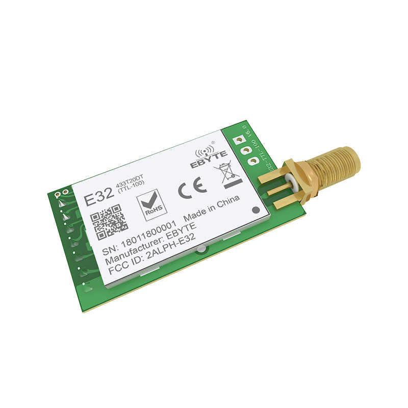 LoRa SX1278 lora módulo TCXO 433MHz E32-433T20DT Módulo de radiofrecuencia inalámbrico lora iot transceptor UART receptor de TRANSMISOR DE RF de largo alcance