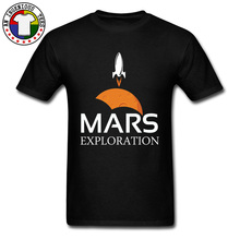 Mars Exploration Space Rockets Tops T Shirt Moon Star Sputnik Moscow Russia USSR Galaxy Tshirt Men Print SpaceX CCCP Aircraft