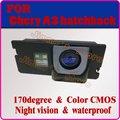 Traseira do carro sistema de monitor da câmera de backup retrovisor câmera reversa câmera de visão traseira para Chery A3 hatchback visão noturna
