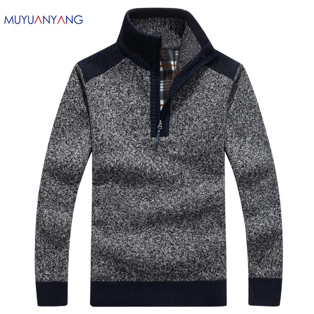 Mens Pullover Sweaters Autumn And Winter Casual knitwear Male Pullovers Half Turtleneck Classic Men's Sweaters Wool Sweater