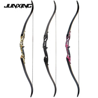 30 50lbs Recurve Bow 56 American Hunting Bow Black/Red Camo/Camo Archery With 17 inches Riser Tranditional Long Bow for Archery