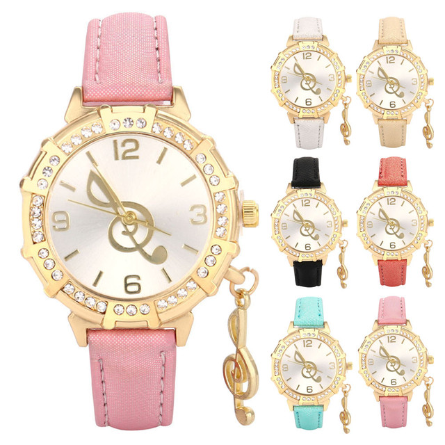 Women watches Relojes Mujer Dress Wristwatch New Women Quartz Wrist Musical Note