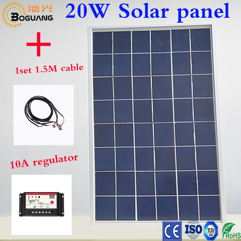 Boguang1x20W /12V Polycrystalline Solar module Panel Mobile Phone Digital Products / Factory price for outdoor/load light/led