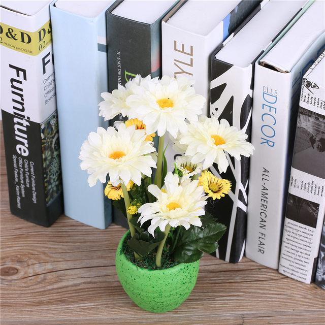 Online Shop Silk Gerbera Daisy Flower Arrangementsvase Artificial