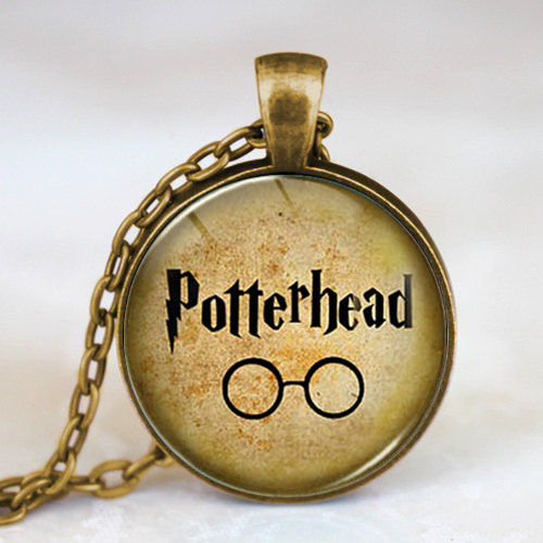 4 color Steampunk Movie Glasses Pendant Necklace doctor who 1pcs/lot chain mens womens friends gift charming 2017 potter head us image