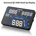 "Universal Q7 5.5"" Car HUD Head Up Display Speedometers Car Overspeed GPS Warning Dashboard Windshield Projector Reflective Film8"