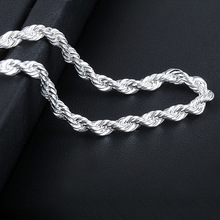 16-30inch Wholesale 925 sterling silver jewelry 4mm Twist Rope Chains necklace pendant for women men's fashion jewelry