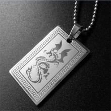 creative font b mens b font stainless steel dragon pendant necklaces bead chain animal font b