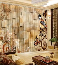 modern living room curtains European Curtains Photo Painted 3D Curtain Living