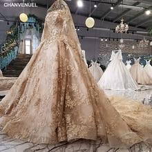 LS41106 μανίκι μισό μανίκια σαμπάνια φόρεμα βράδυ με μακρύ πέπλο sequined δαντέλα μέχρι πίσω μπάλα φόρεμα επίσημα φόρεμα πραγματικές φωτογραφίες
