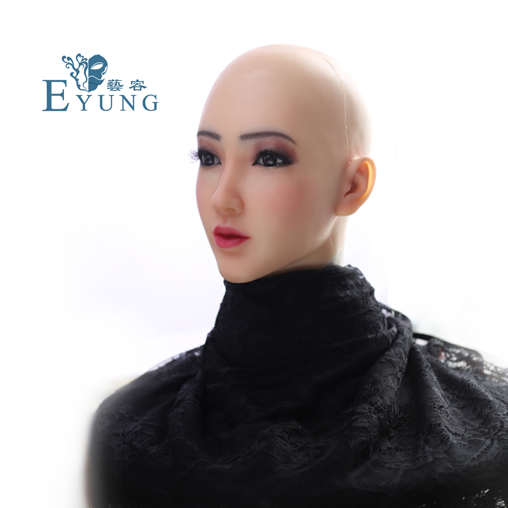 Image 4 - EYUNG Christina angel face realistic silicone female masquerade Halloween cosplay drag queen crossdresser Cover facial scars