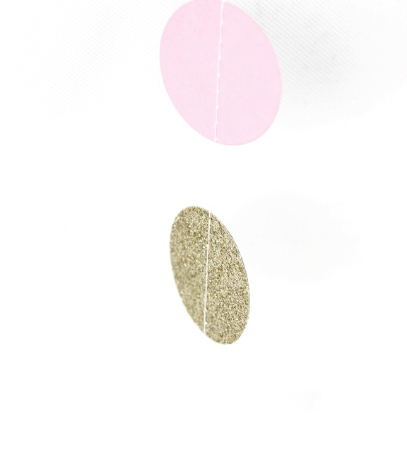 3.5 M długości (złoto, różowy) koło Garland 11 stóp kropki papierowa girlanda zdjęcie rekwizyty Baby Shower dla nowożeńców Shower dekoracje ślubne