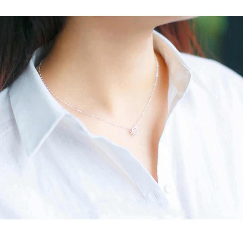 Trusta 2019 100% Серебро 925 пробы ювелирные изделия письмо кулон имя ожерелье подарок для девочки-подростка день рождения леди DS1543