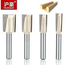 """Huhao 1 pçs 1/4 """"shank cnc limpeza inferior roteador bit 20mm ferramentas para trabalhar madeira dois flauta endmill roteador bits para ferramentas de corte madeira"""