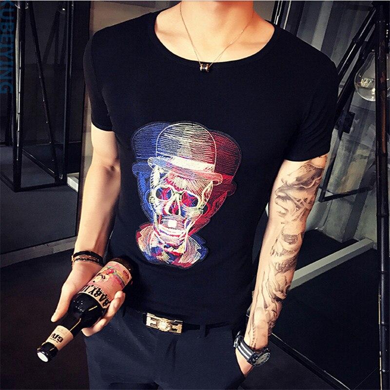 2017 Summer New Fashion Brand Dot Print Slim Fit T font b shirt b font Short