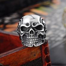 Vikings Vintage Stainless Steel Skeleton Rings