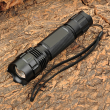 Boutique Black Hunting Flashlight 503B 860lm CREE XM-L T6 5 Mode White Light Zoom Flashlight Charging 18650 Flashlight T6 Bulb