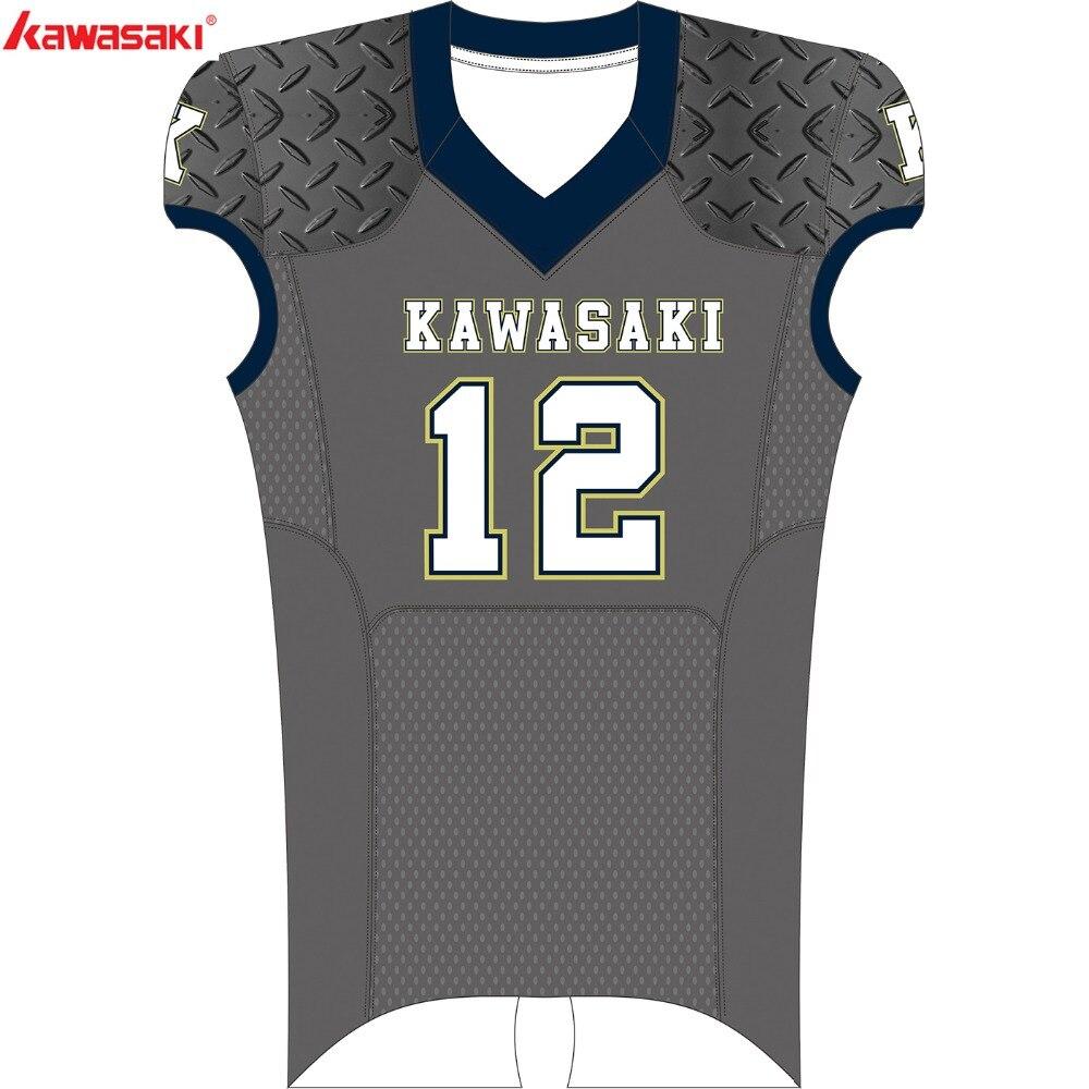 Kawasaki Brand Custom American Football Fan Jersey Mens Shirt Plus Size XS-5XL Breathable Sports Fans jerseys Top