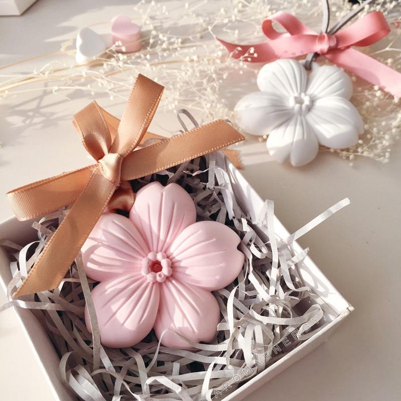 1 pcs Keramik Sakura Aromaterapi Penyegar Udara Dekorasi Rumah Aroma - Dekorasi rumah - Foto 1