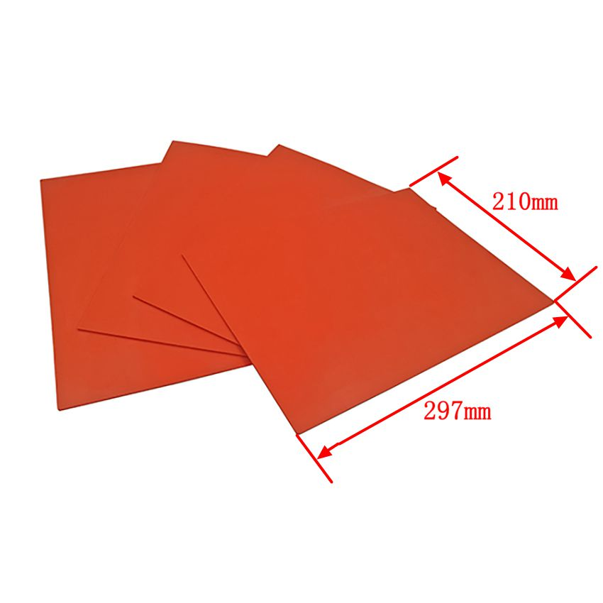 Free Shipping 1 Pcs Red Rubber Sheet For Laser Engraving