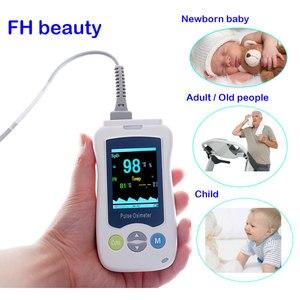 Image 1 - Пульсоксиметр Пальчиковый портативный медицинский для новорожденных и детей, миниатюрный OLED дисплей, для взрослых и новорожденных