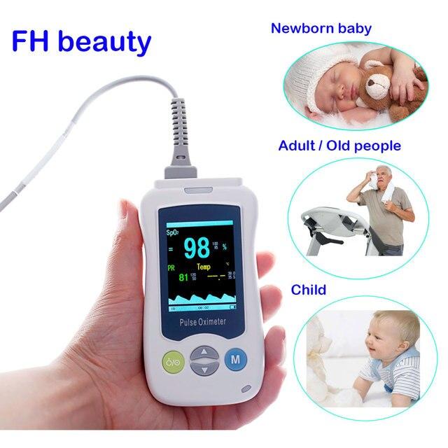 Пульсоксиметр Пальчиковый портативный медицинский для новорожденных и детей, миниатюрный OLED дисплей, для взрослых и новорожденных