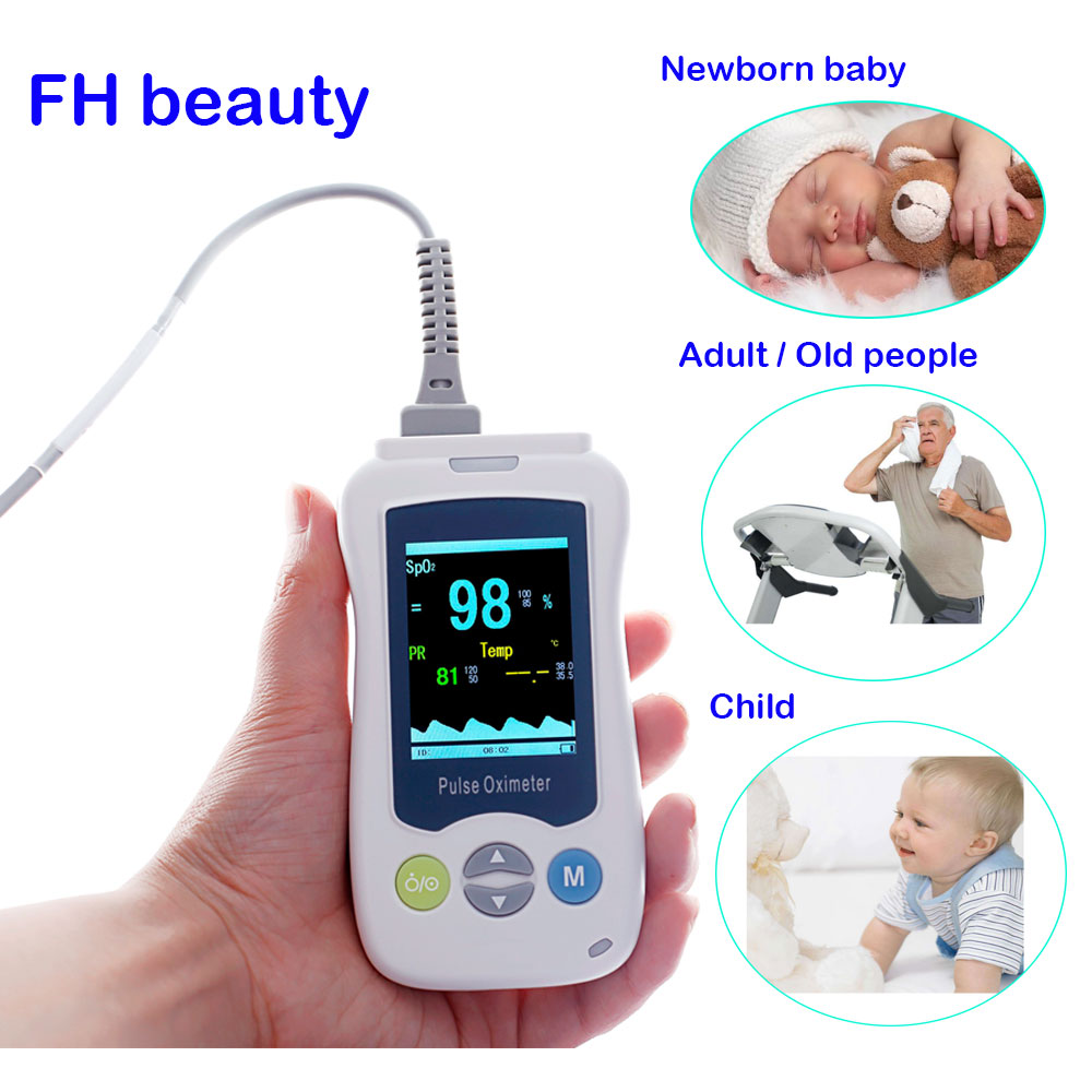 цена Medical Portable Handheld Pulse Oximeter For Adult Newborn Infant Neonatal Child Baby Kids Mini De Pulso OLED Fingertip Oximetro