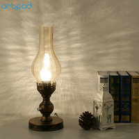 Artpad Chinese Style Retro Vintage Kerosene Lamp Glass Lampshade Dimming LED Table Light EU/US Plug in E27