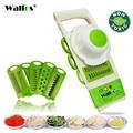 Herramientas de corte de verduras de pelador de mandolina de WALFOS con 5 cuchillas de rallador de zanahoria rebanador de verduras de cebolla accesorios de cocina