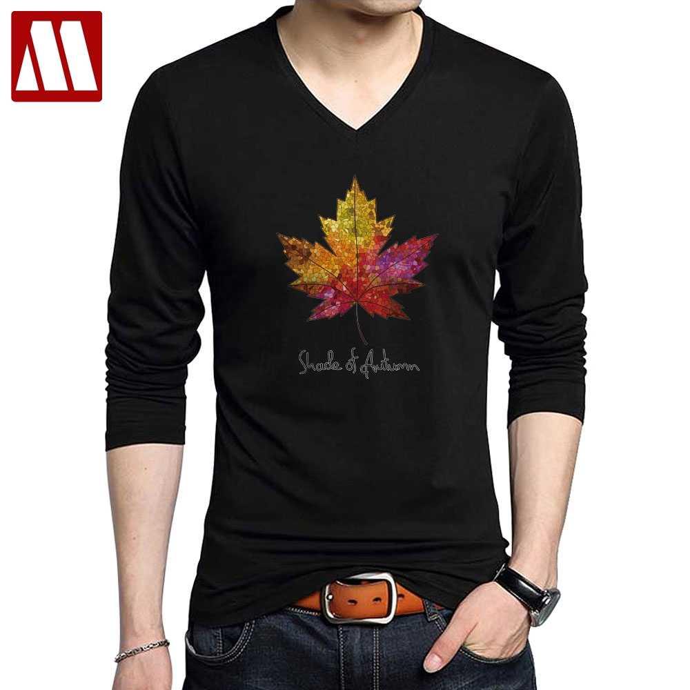 993749729a4 Новинка 2019 года тенты Осень Человек модные футболки Канадский кленовый  лист печатных футболка аниме повседневное брендовая