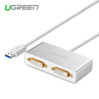 Ugreen USB 3 0 To Dual DVI HDMI VGA External Multi Display Adapter High Premium Converter