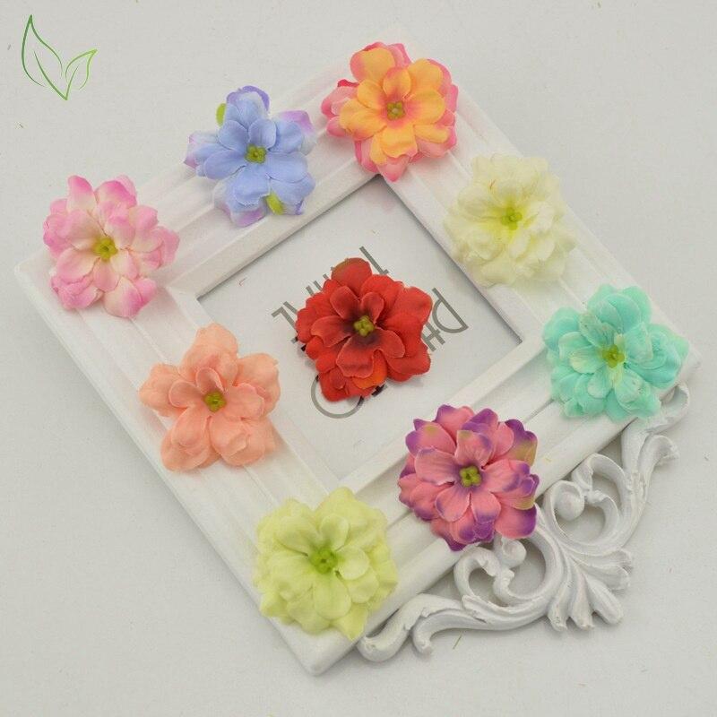 4 cm de seda de flores artificiales flor artificial pequeña luna barato para el