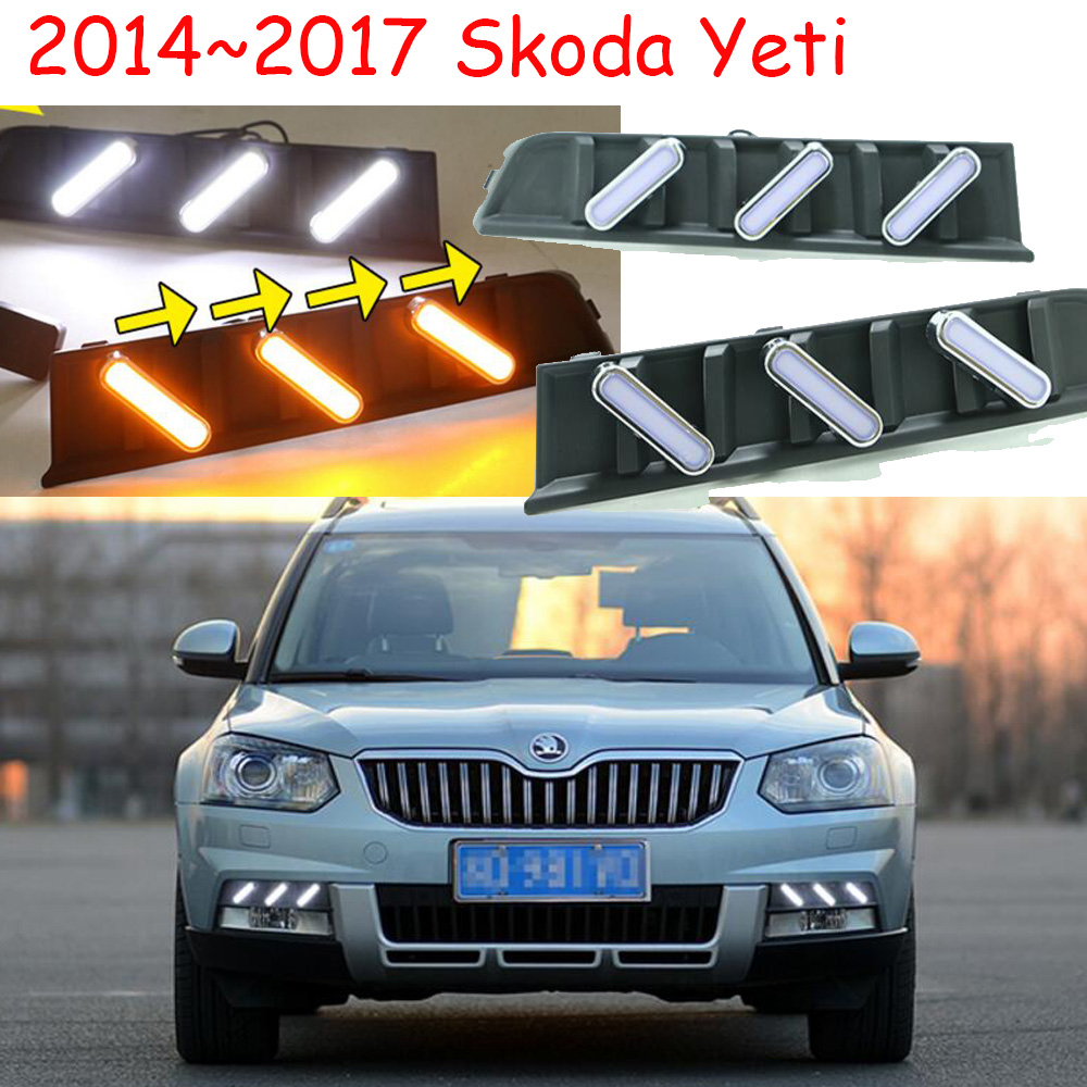 car styling,Yeti daytime light;2014~2017,Chrome,Free ship!LED,Yeti fog light,Superb;fabia,Rapid,Octavia,motorcycle