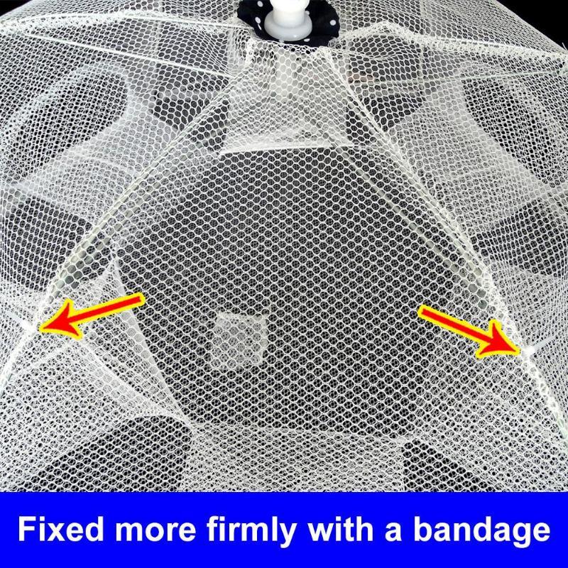 peixe fundido net dobrável rede de pesca mão jogando net