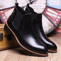 2016 Winter & Summer Men's Genuine Leather Fashion Chelsea Boots Kanye West Short Ankle Motor Cycle Martin Boots Botas Hombre