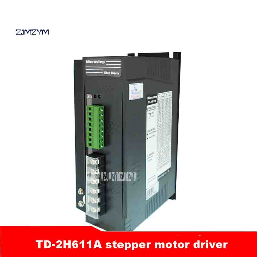 ZJMZYM New Arrival Two-phase Hybrid Motor High Quality TD-2H611A Stepper Motor Driver 500W 28 Species 60,000 Steps 6.0A (Peak) zjmzym ms 2h057m stepper motor driver mainly used for driving type 57 phase current 3a peak two phase hybrid motor 40 000 steps