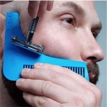 3 Colors Beard Shaping Comb Hair Styling Anti-static Brush Beard Hair Trimming Template Modeling Tools Hair Shaving Brush Combs